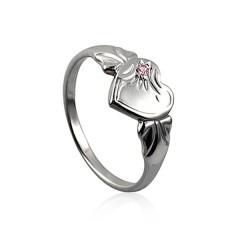 Pink stone signet ring $35