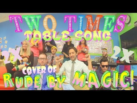 Two Times Table Song (Cover of Rude by MAGIC!) with Classroom Instruments - YouTube