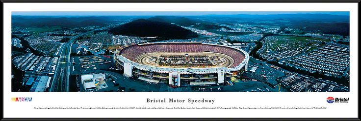 Bristol Motor Speedway Panoramic Picture (Night) - Standard Frame $99.95