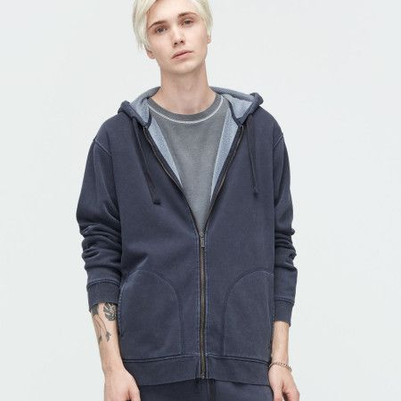 UGG Elliot Washed Charcoal Hoodie available on frostshoes.com or in Downtown Traverse City