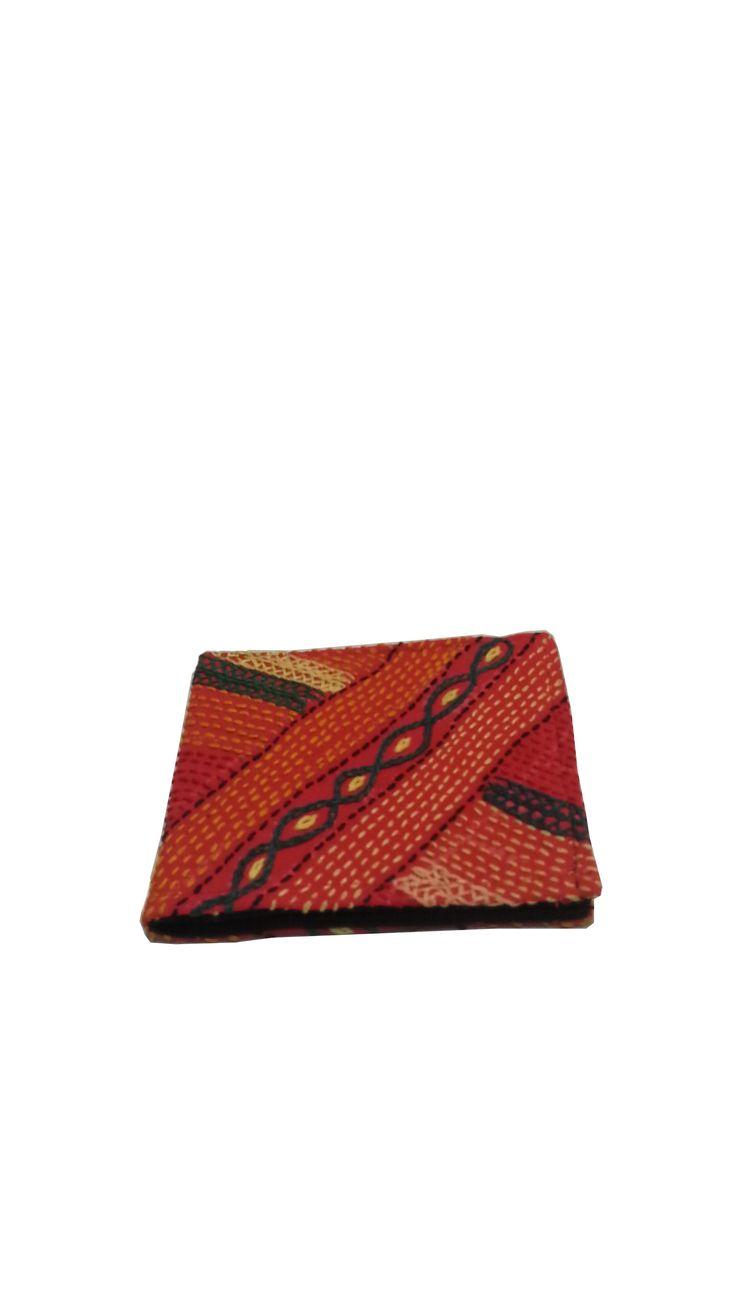 Sabala Handicrafts Orange Wallet $14.99