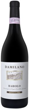 Barolo Riserva DOCG 2000 - Damilano - Piemonte Pale Ruby Red tending to Garnet. The elegant and pleasantly spicy aroma, with intense fruity sensations and red rose petals. The taste is rich, intense, persuasive and polished tannins and a finale reminiscent of dark chocolate.