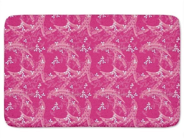 Memory Foam Standard Bush Clover Asia Pink Bath Mat Non Skid Latex 17 x 24 Inch #BathMat #MemoryFoamMat #StylishMat #BathRug #SoftMat #DoorMat #Mat #Rug #SkidResistant #NonSlip #Home #Kitchen #Bathroom #Bath #PinkMat