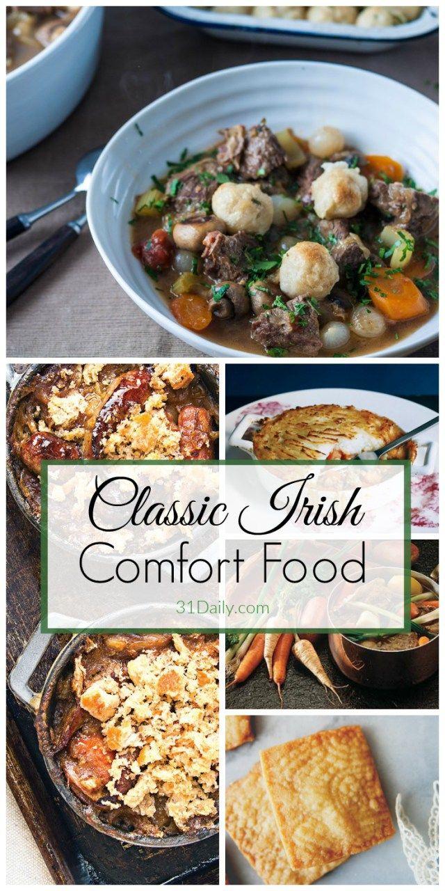 Classic Irish Recipes, Emerald Isle Comfort Food at its Best | 31Daily.com #StPatricksDay #comfortfood #Ireland #31Daily