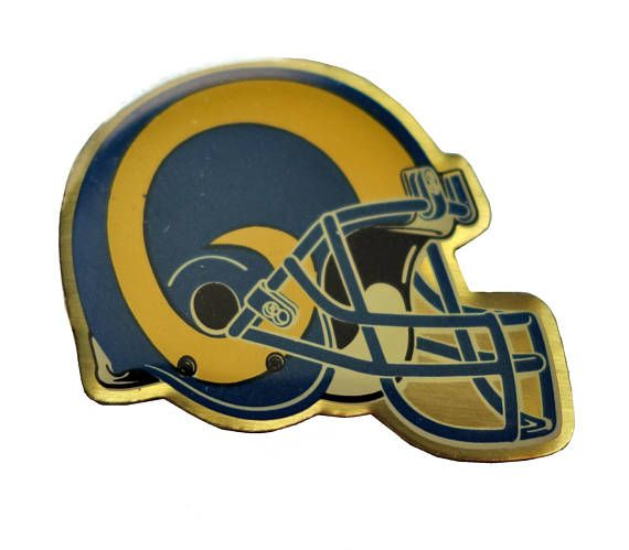 """ST LOUIS RAMS Helmet Logo vintage enamel pin badge nfl Football Missouri by VintageTrafficUSA  14.00 USD  A vintage Rams pin! Decent condition with light scuffs. Measures: approx 1"""" These rare pins are proven to win you friends and influence people! Add inspiration to your handbag tie jacket backpack hat or wall. -------------------------------------------- SECOND ITEM SHIPS FREE IN USA!!! LOW SHIPPING OUTSIDE USA!! VISIT MY STORE FOR MORE ITEMS!!! http://ift.tt/1PTGYrG FOLLOW ME ON FACEBOOK…"""