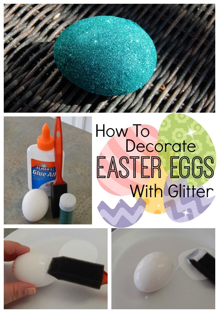 How To Decorate Easter Eggs With Glitter. So easy!