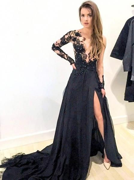 Black Prom Dress for Less