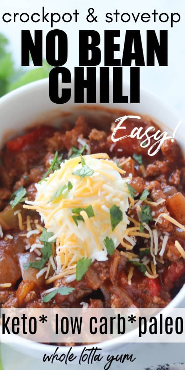 Easy Chili Recipe Without Beans Low Carb Chili Recipe Chili Recipe Easy Chili Recipe Crockpot Chili Recipes
