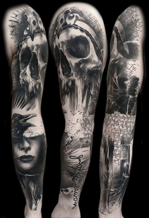 Tattoo Gallery - Trash Polka Tattoos by Volko Merschky & Simone Pfaff