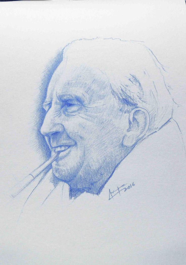 J R R Tolkien portrait study