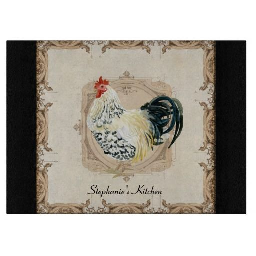 Kitchen decor vintage french damask rooster kitchen home decor