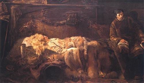 Jacek Malczewski - Śmierć Ellenai (Death of Ellenai), 1883