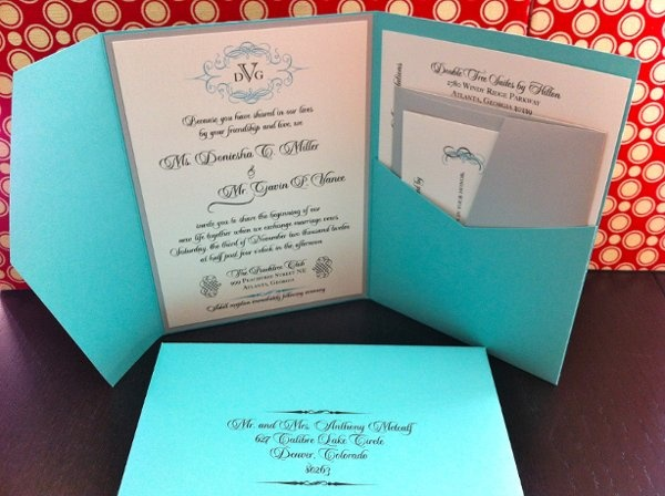 Tiffany and co. Blue Inspired Pocket Fold  by poetictwist.com #Tiffany blue