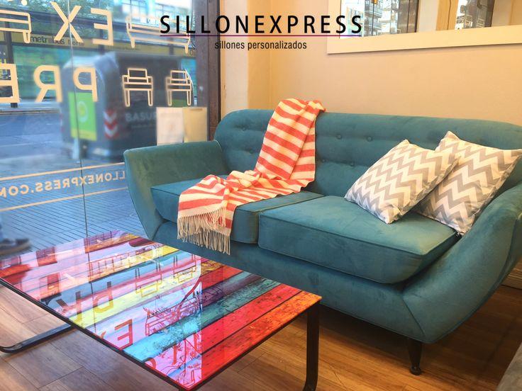 Sofa Modelo Dante y Mesa Ratona Rainbow - diseño interior accesible en Sillonexpress! Envíos a todo Argentina y 12 cuotas sin interés.
