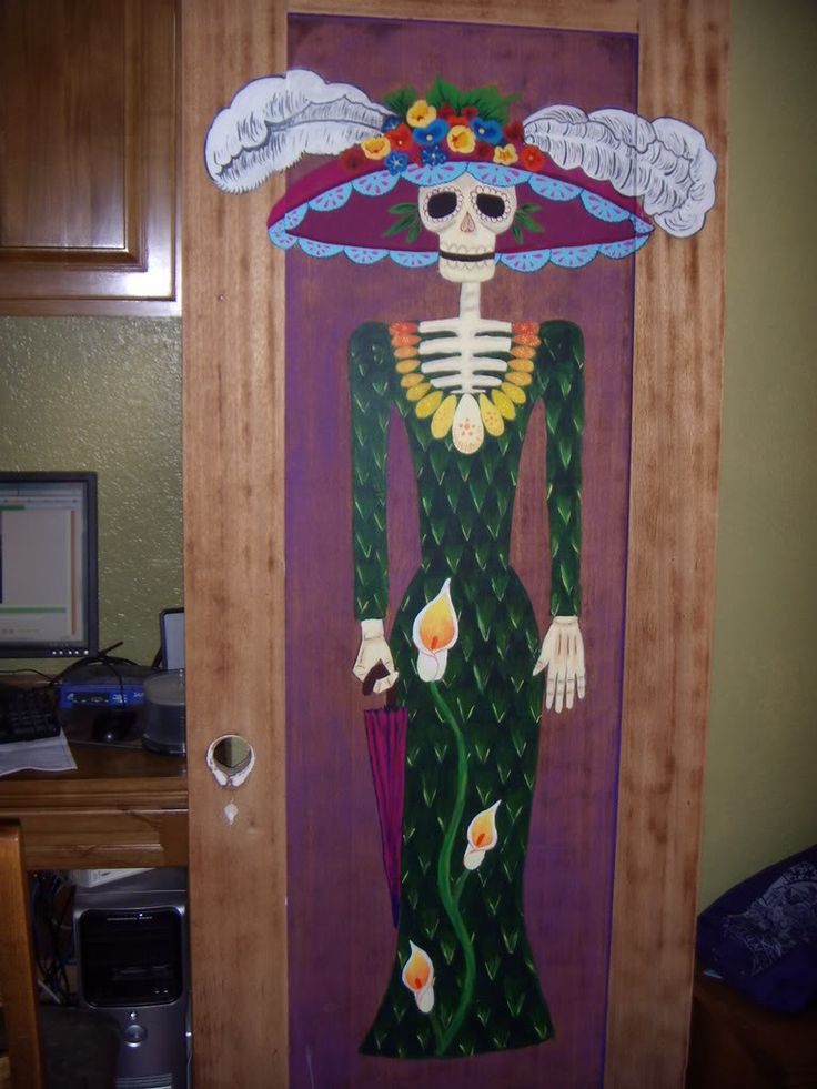 Day of the Dead Door - HOME SWEET HOME  - Knitting, sewing, crochet, tutorials, children crafts, jewlery, needlework, swaps, papercrafts, cooking and so much more on Craftster.org