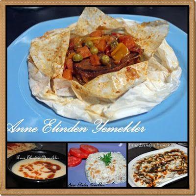 Patates Çorbası Sebzeli Kağıt Kebabı Şehriyeli Pirinç Pilavı Yoğurtlu Kurutulmuş Fasulye