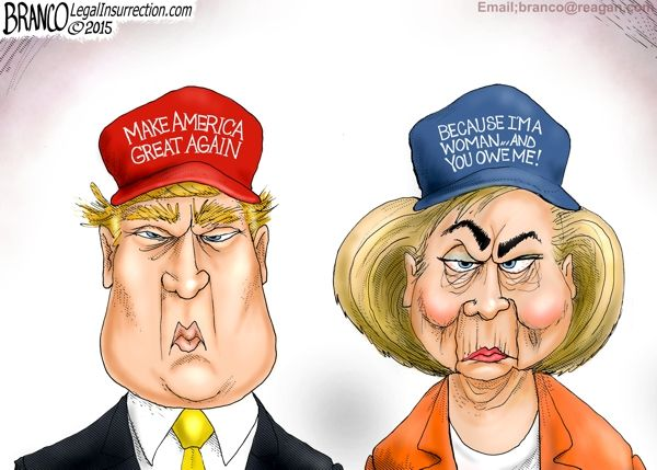 Campaign Hats! What persuasive techniques does the political cartoonist use in this cartoon?