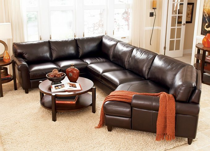Find This Pin And More On Dark Brown Leather Sectionals By Conchwatts.