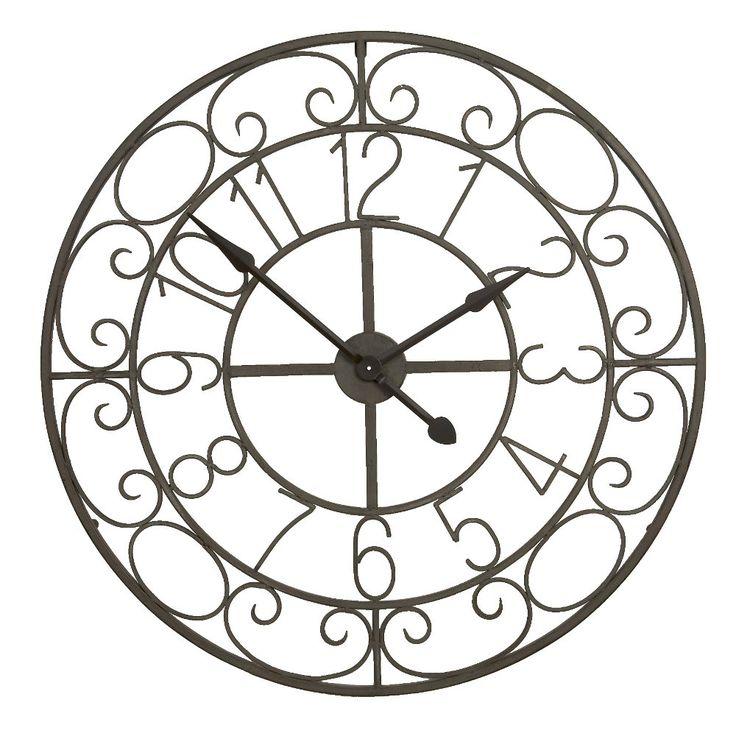 Orologio decorato in ferro da parete