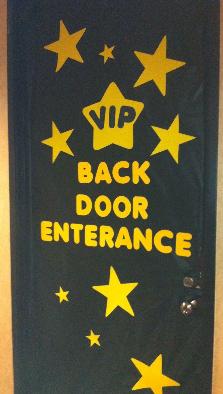 Therapist Appreciation Week aka Teacher Appreciation Week... Classroom Door Decorations... Hollywood Theme