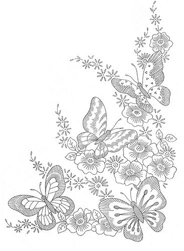 Colouring Pages Of Flowers And Butterflies : 80 best butterfly coloring pages images on pinterest