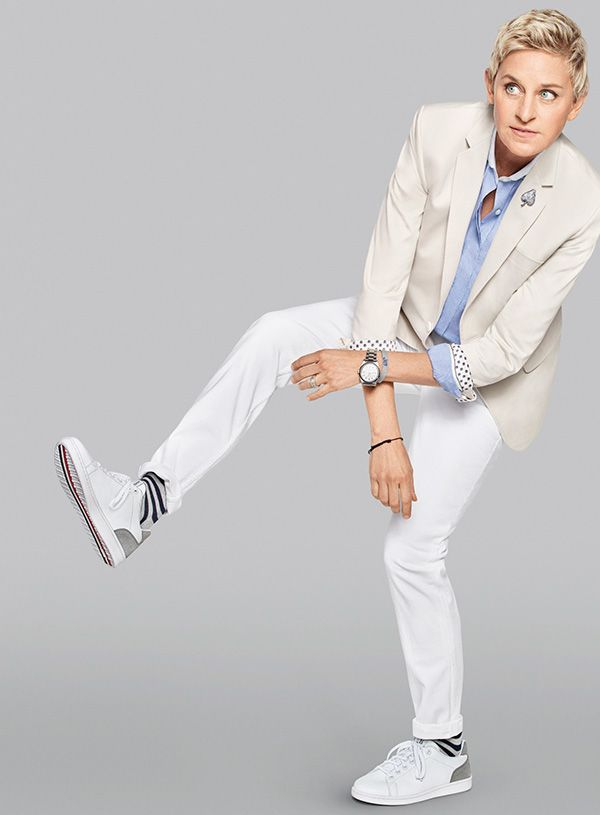 Ellen DeGeneres's shoe collection has slip-ons, sandals and totally danceable sneakers...