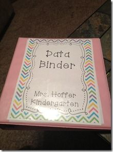 Mrs. Hoffer's Kindergarten: How to Keep Data Love this! Everyone knows I forget or lose everything ... One binder is much better!
