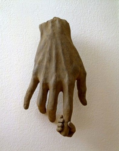 Made by: James Croak - Hand series (So tender, the little hand holding a finger)