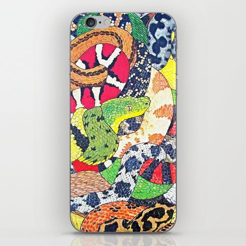 Snakes iPhone & iPod Skin by Chloe Yzoard | Society6
