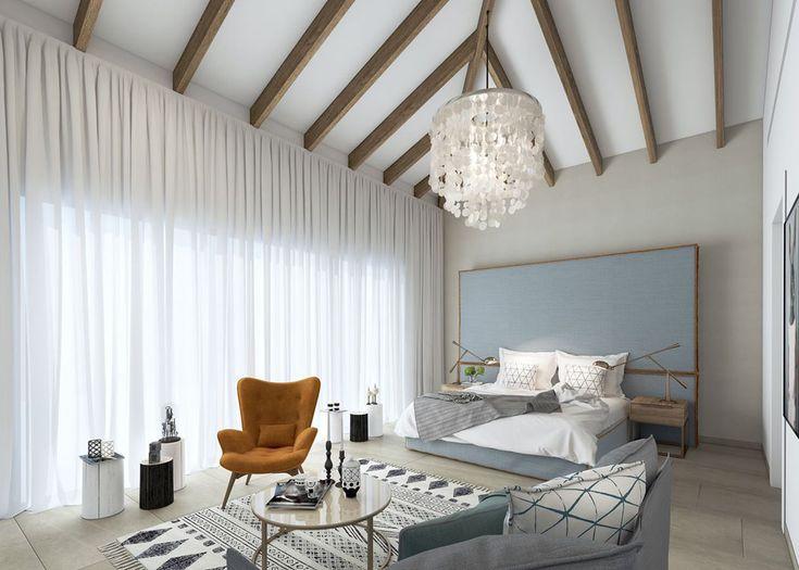 Les suites luxueuses de chaque villa se caractérisent par un design moderne mais classique et convivial