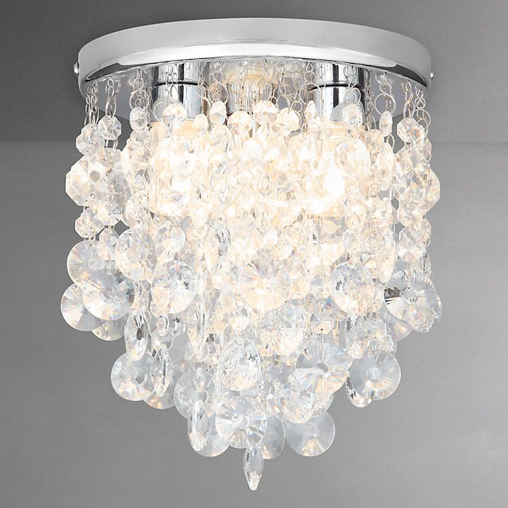 Buy John Lewis Katelyn Crystal Bathroom Flush Ceiling Light Online At  Johnlewis.com Amazing Ideas