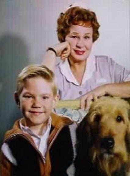 "Bobby Buntrock and Shirley Booth stars of the sitcom, ""Hazel"" 1961-65."