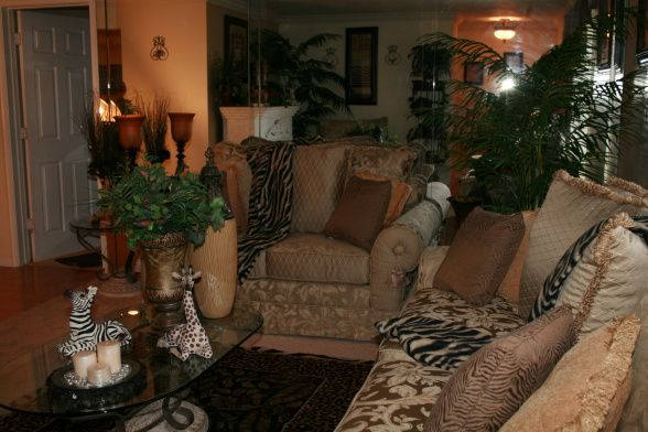 african decorating ideas | African Safari - Living Room Designs - Decorating Ideas - HGTV Rate My ...