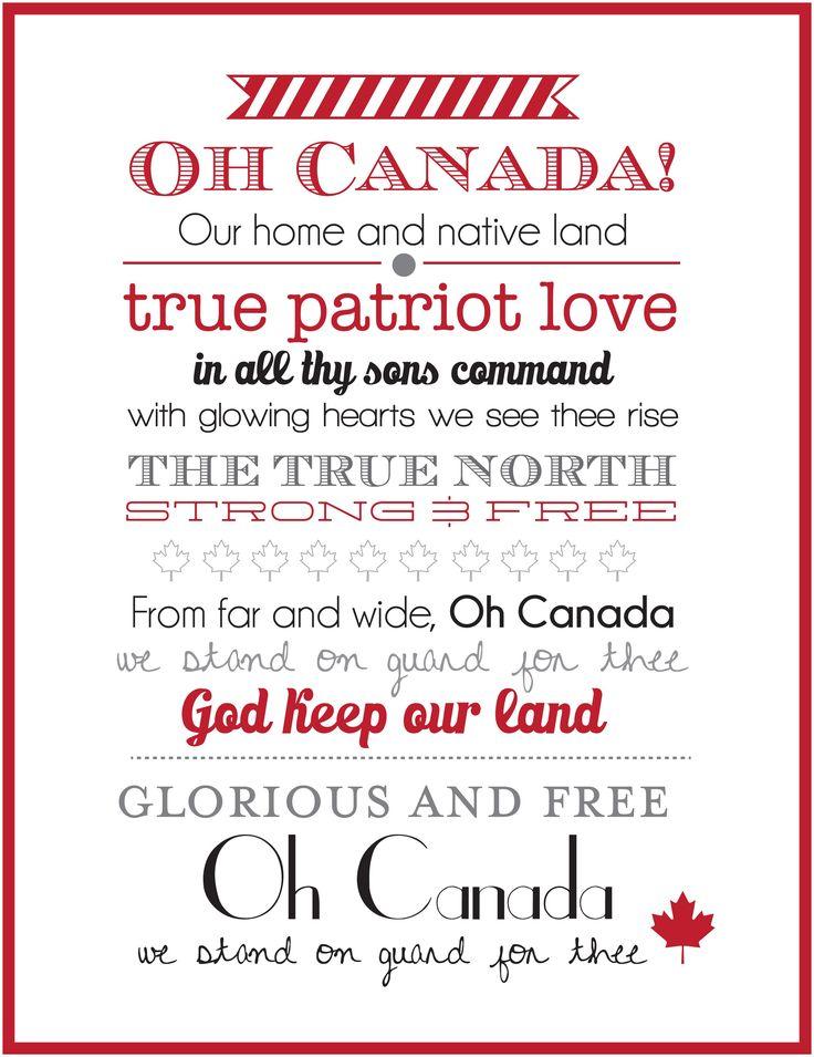 Canada Day Wall Art V2