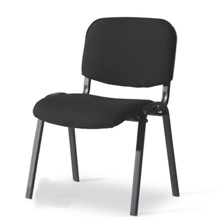 Chaises De Bureau Chaise Bureau 4 Pieds En Tube Dacier Noir Avec Achat Vente Home Decor Chair Decor