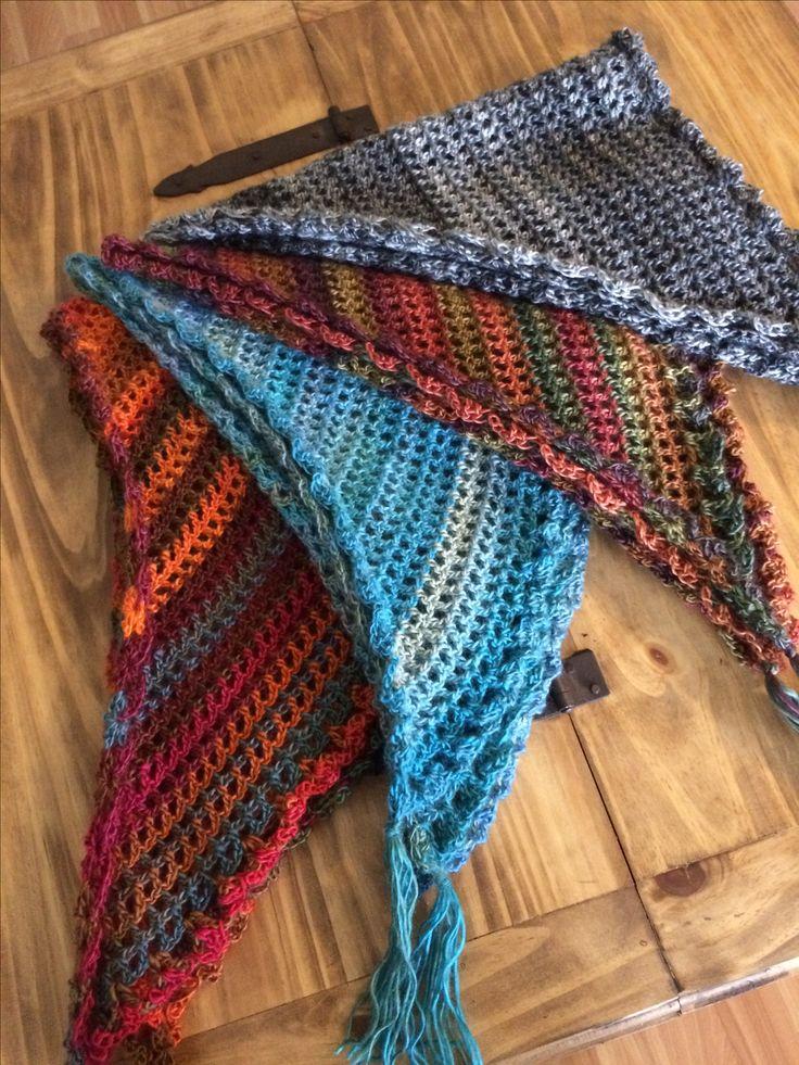 Triangular crochet scarf, so soft and warm. Handmade with care, 100%acrylic