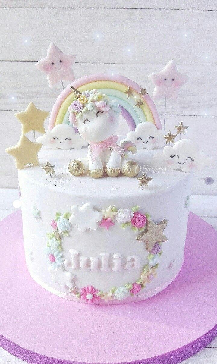 Tarta Unicornio Unicorn Birthday Cake Unicorn Cake Baby Birthday Cakes