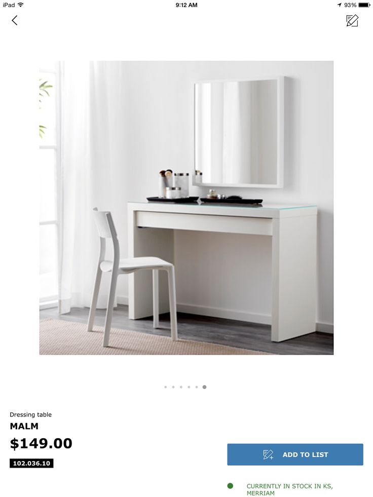 IKEA   MALM, Dressing Table , Thereu0027s Plenty Of Space For Make Up And  Jewellery In The Wide, Felt Lined Drawer.You Donu0027t Need To Worry About  Stains, ...