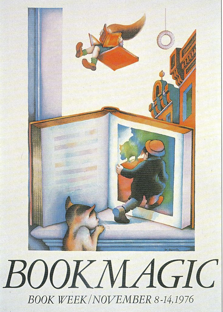 213 best vintage libraryreading posters images on pinterest official childrens book week poster 1976 uri shulevitz 1935 present fandeluxe Gallery