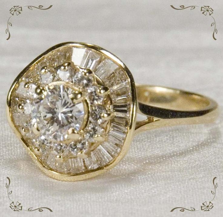 Vintage  Diamond Ballerina Ring
