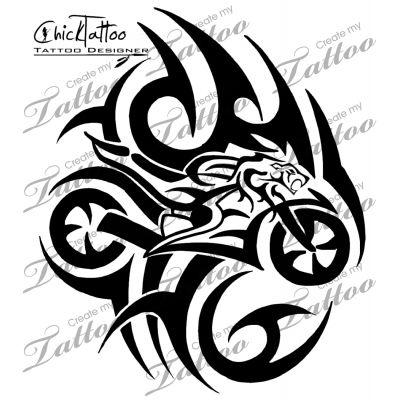 Marketplace Tattoo Tribal Lion Sportbike 11413 Createmytattoo Com