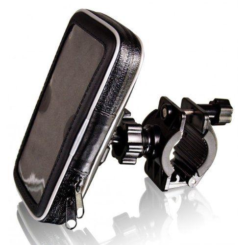 SUPPORTO da MANUBRIO per BICICLETTA o MOTO CELLULARE GPS iPhone CUSTODIA IMPERMEABILE