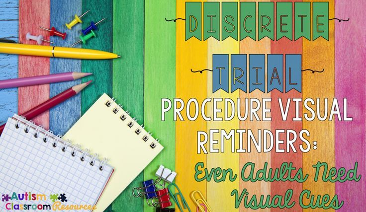 free discrete trial procedures posters from Autism Classroom News