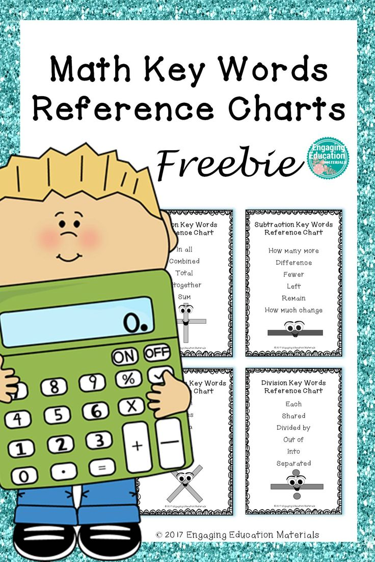 Worksheet Different Words For Subtraction 17 best ideas about math key words on pinterest vocabulary this freebie includes four reference charts for addition subtraction multiplication