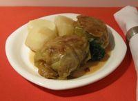 German Cabbage Rolls - Kohlrouladen in Beef Broth