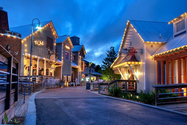 Baytown Wharf, FL, love it here, everything set in a charming little village. Ziplining , restaurants, shopping and music. It feels like you've stepped into a different world. Try the gelatto in a little shoppe here.