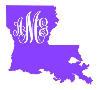 State with Monogram Decal Louisiana | Business | Pinterest ...
