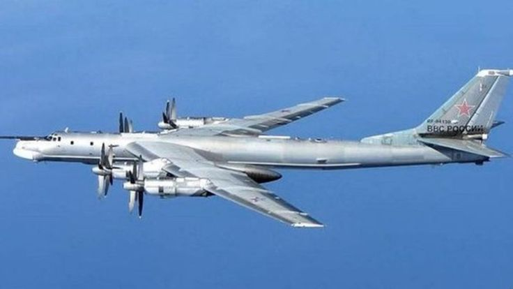 RAF jets are scrambled after two Russian military aircraft are seen flying north of Scotland towards UK airspace.