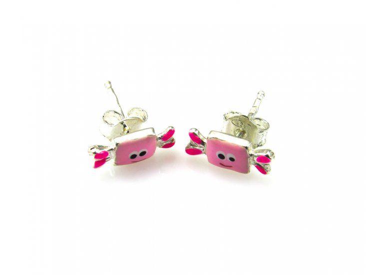 375645616e68 Pendientes para niñas caramelo rosa de Plata de ley : Joyeria online ...