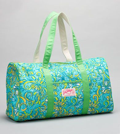 Lilly Pulitzer Overnight Bag For Storing Emergency And Other Necessity Items In My Car A Little Prep Your Step Pinterest Bags Duffel
